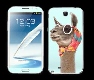 Pokat ja laama  tarrakuori Galaxy Note 2