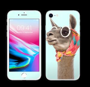 Pokat ja laama  tarrakuori IPhone 8