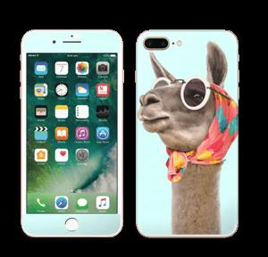 Pokat ja laama  tarrakuori IPhone 7 Plus