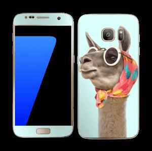 Pokat ja laama  tarrakuori Galaxy S7