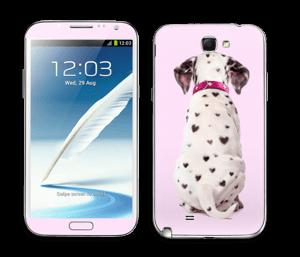 Söpis dalmatialainen tarrakuori Galaxy Note 2