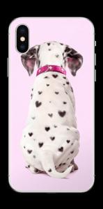 Söpis dalmatialainen tarrakuori IPhone XS