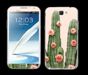 Kukkiva kaktus tarrakuori Galaxy Note 2