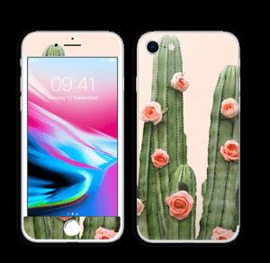 Kukkiva kaktus tarrakuori IPhone 8