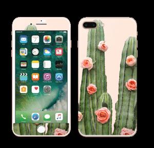 Kukkiva kaktus tarrakuori IPhone 7 Plus