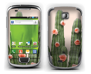 Kukkiva kaktus tarrakuori Galaxy Mini