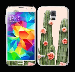 Kukkiva kaktus tarrakuori Galaxy S5