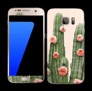 Kukkiva kaktus tarrakuori Galaxy S7