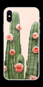 Kukkiva kaktus tarrakuori IPhone XS