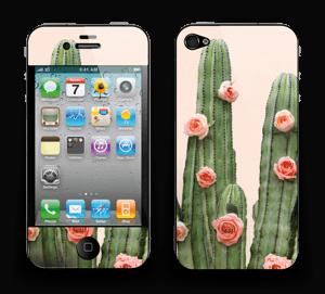 Kukkiva kaktus tarrakuori IPhone 4/4s