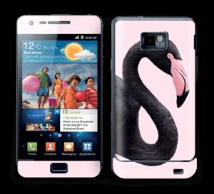 Schwarzer Flamingo Skin Galaxy S2