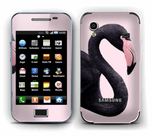 Musta flamingo tarrakuori Galaxy Ace