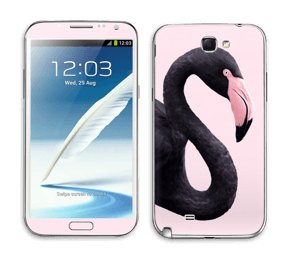 Musta flamingo tarrakuori Galaxy Note 2