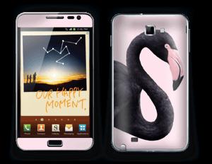 Schwarzer Flamingo Skin Galaxy Note