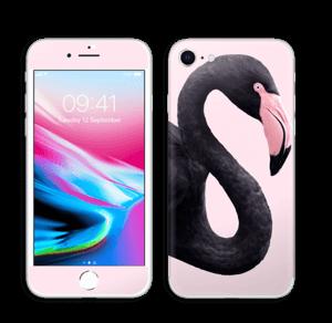 Musta flamingo tarrakuori IPhone 8
