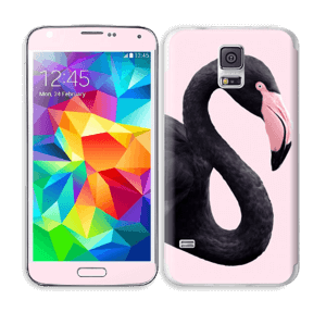 Musta flamingo tarrakuori Galaxy S5