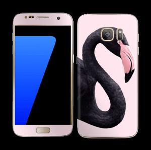 Musta flamingo tarrakuori Galaxy S7