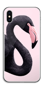 Schwarzer Flamingo Skin IPhone X