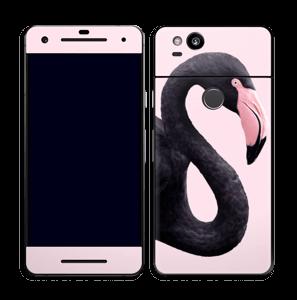 Schwarzer Flamingo Skin Pixel 2