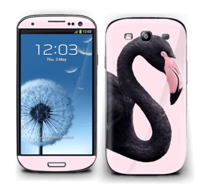 Schwarzer Flamingo Skin Galaxy S3