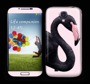 Musta flamingo tarrakuori Galaxy S4