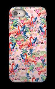 Tropical Flamingo Vibes case IPhone 8 tough