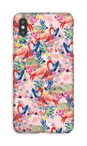 Tropical Flamingo Vibes case IPhone XS Max