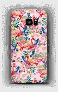 Tropik og flamingoer cover Galaxy S7 Edge