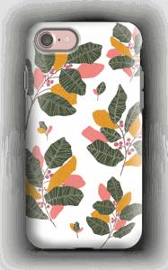 Löv i rosa  skal IPhone 7 tough