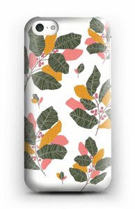 Blad i lyserødt cover IPhone 5c
