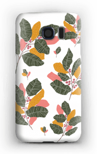Leaves in pink case Galaxy S6