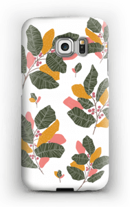 Blad i lyserødt cover Galaxy S6 Edge