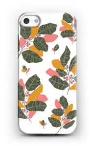 Leaves in pink case IPhone SE