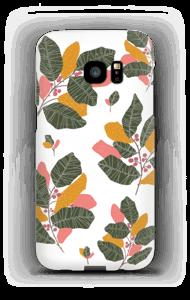 Blad i lyserødt cover Galaxy S7 Edge