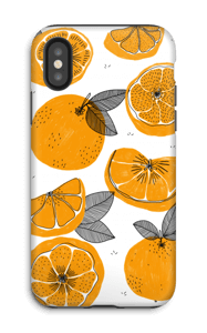 Small Oranges case IPhone X tough