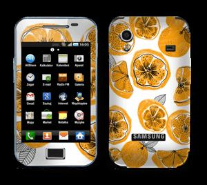 Oranssit appelsiinit tarrakuori Galaxy Ace