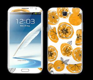 Oranssit appelsiinit tarrakuori Galaxy Note 2