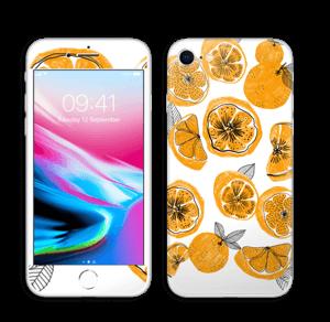 Oranssit appelsiinit tarrakuori IPhone 8