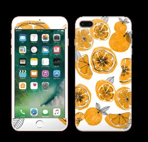 Oranssit appelsiinit tarrakuori IPhone 7 Plus