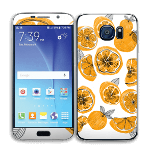 Naranjas Dulces Vinilo  Galaxy S6