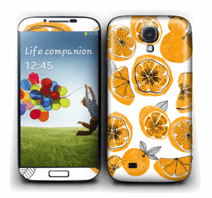 Piece of Orange Skin Galaxy S4