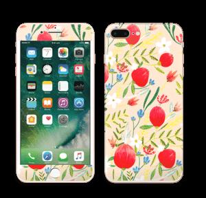 Flower Fields tarrakuori IPhone 7 Plus