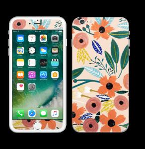Kesän kukkasia tarrakuori IPhone 6 Plus