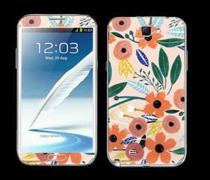 Kesän kukkasia tarrakuori Galaxy Note 2
