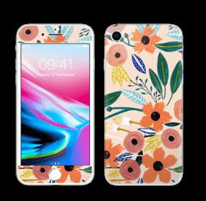 Kesän kukkasia tarrakuori IPhone 8