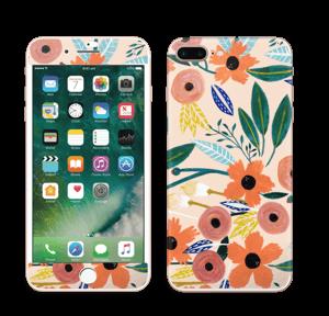 Kesän kukkasia tarrakuori IPhone 7 Plus