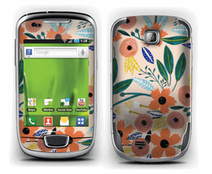 Kesän kukkasia tarrakuori Galaxy Mini