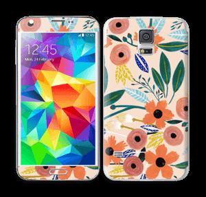 Kesän kukkasia tarrakuori Galaxy S5