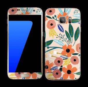 Kesän kukkasia tarrakuori Galaxy S7