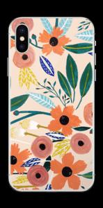 Kesän kukkasia tarrakuori IPhone X